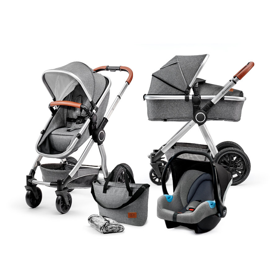 Kinderkraft Passeggino trio 3 in 1 Veo grey
