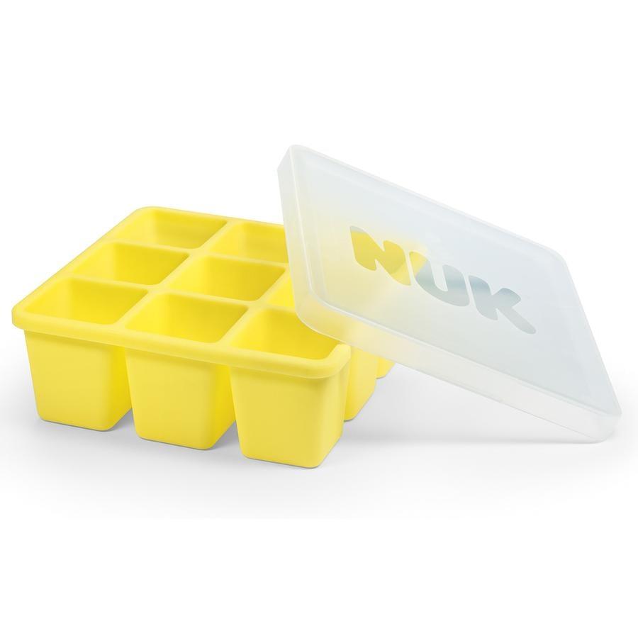 NUK Stampi per cubetti di ghiaccio 9 x 60ml giallo