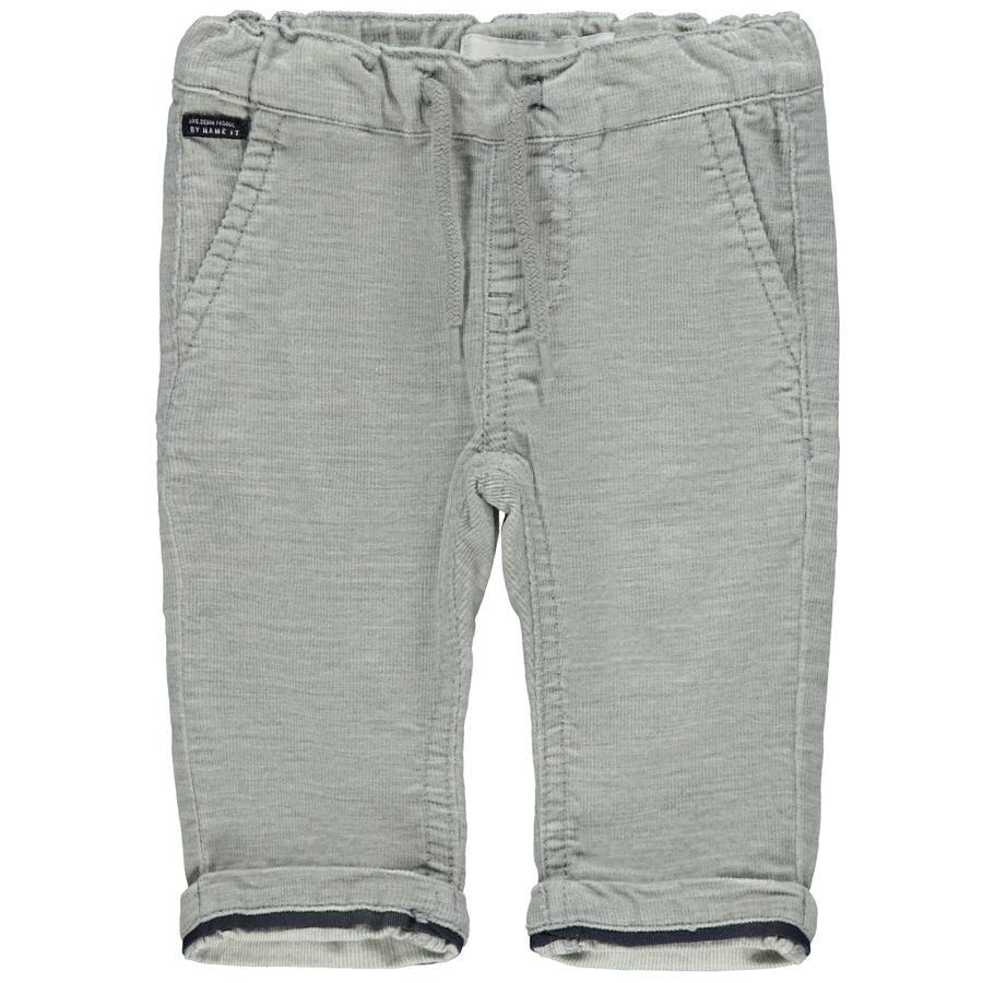name it Pantaloni di velluto a coste NBMROBIN Grigio Melange