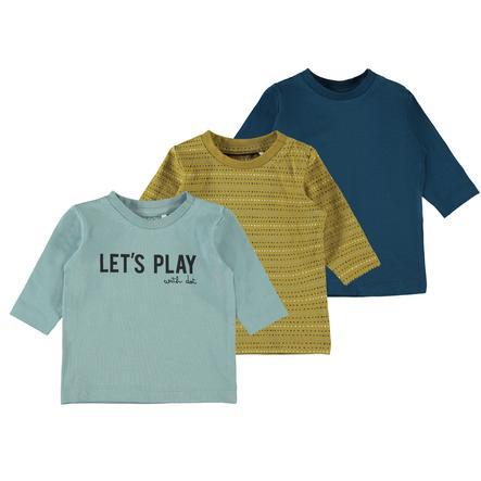 name it Pack de 3 chemises à manches longues NBMLAUST Gibraltar Sea