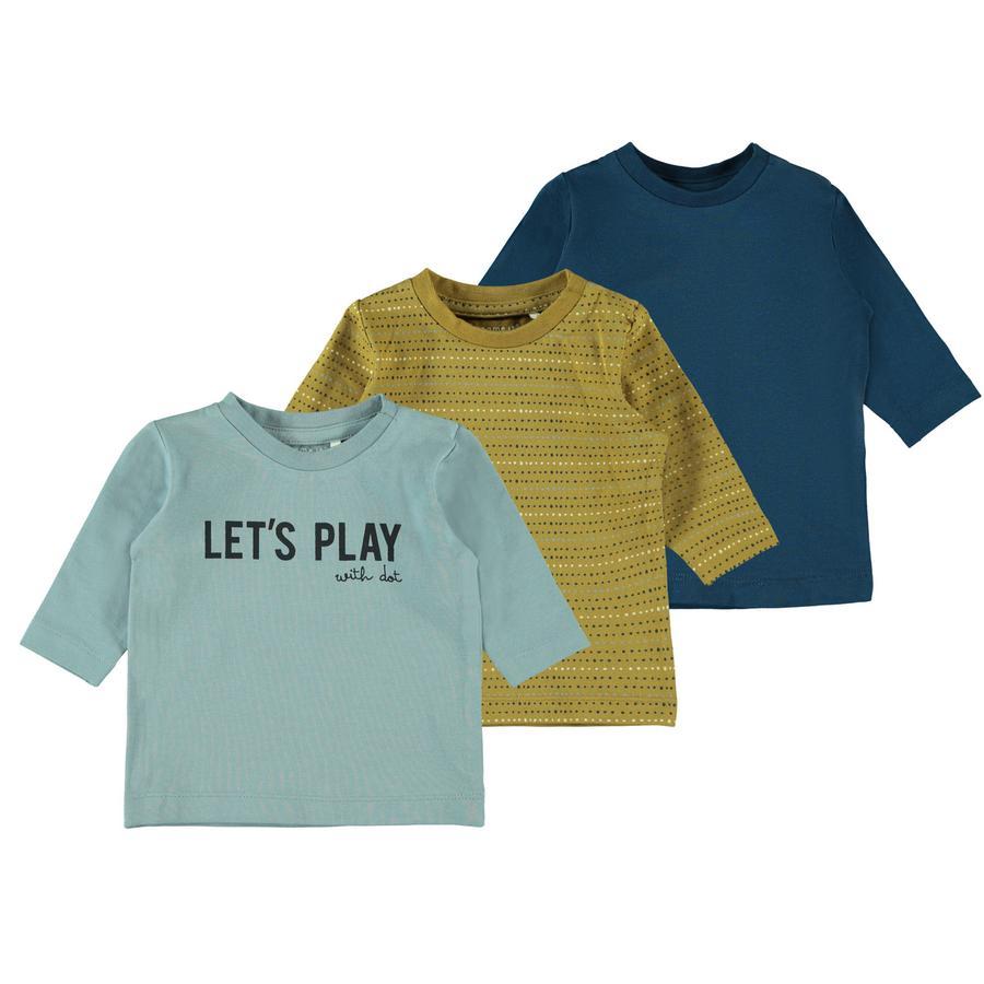 name it Långärmad skjorta 3-pack NBMLAUST Gibraltar Sea