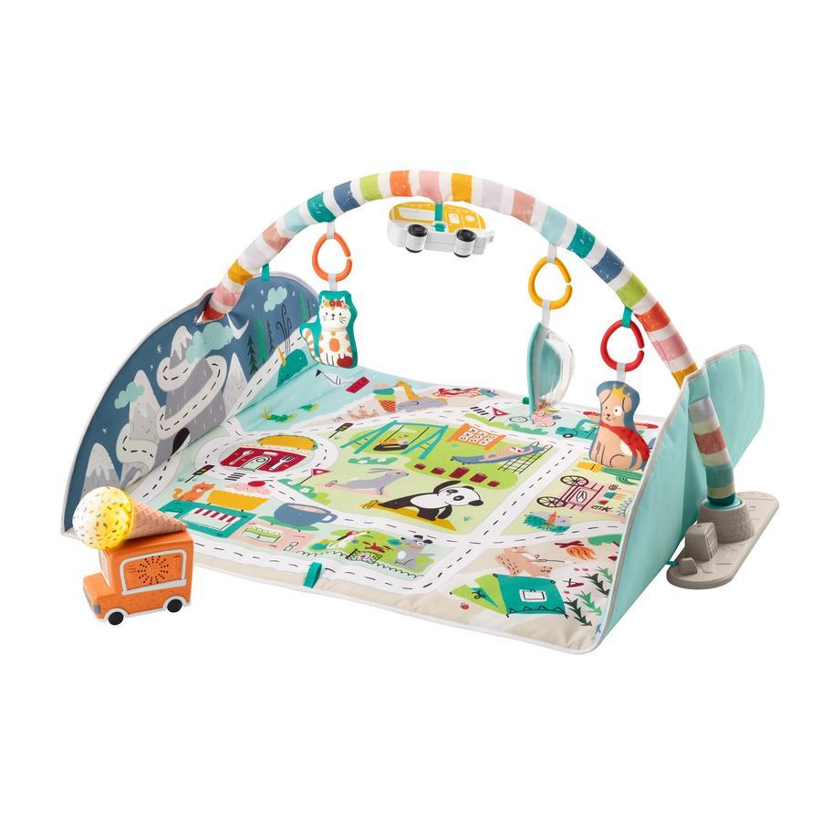 Fisher-Price® Jumbo Abenteuer Spieldecke mit Spielbogen, Baby-Decke und Spielteppich