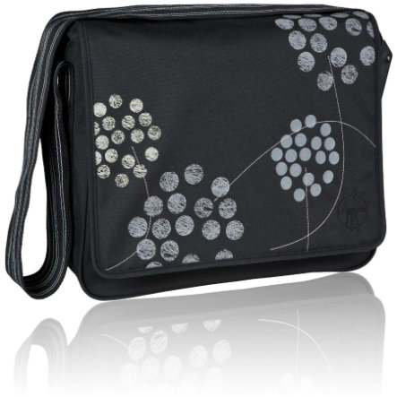 LÄSSIG Wickeltasche Casual Messenger Bag Barberry black