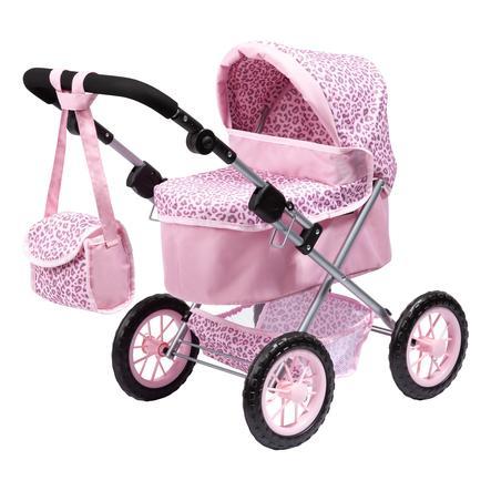 BAYER DESIGN kočárek pro panenky Trendy , leopard, růžový