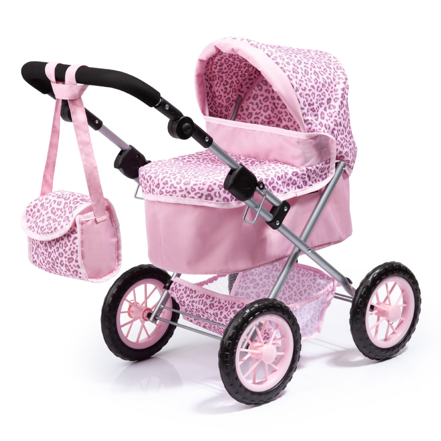 BAYER DESIGN Wózek dla lalek Trendy , Leopard, rosa