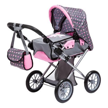 bayer Design Puppenwagen City Star, grau mit Punkten und Fee