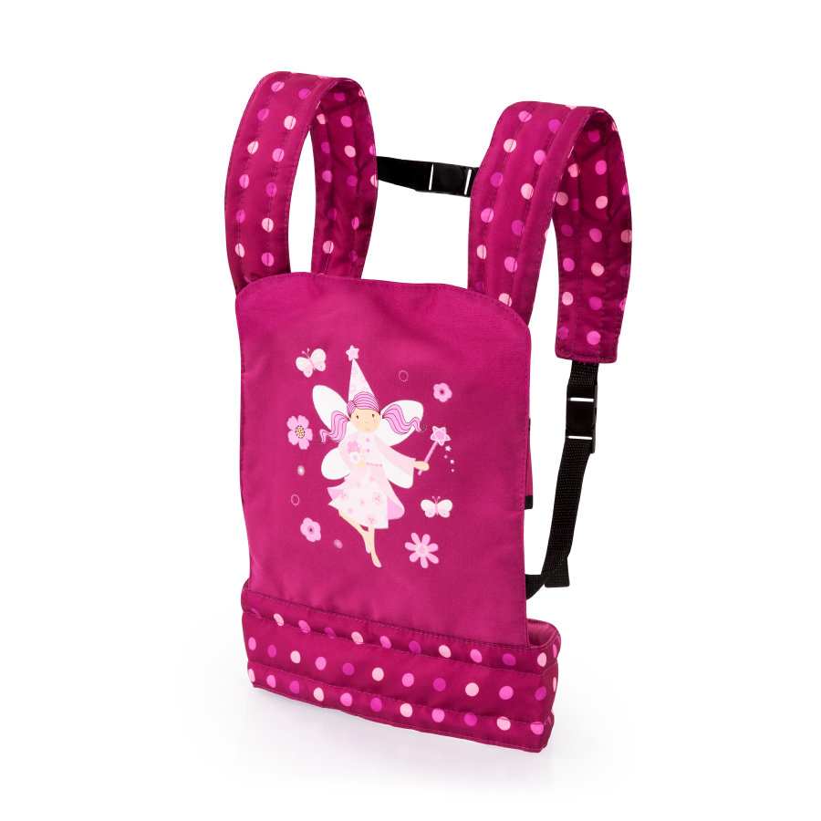 bayer Design Puppen-Tragegurt pink, mit punkten und Fee