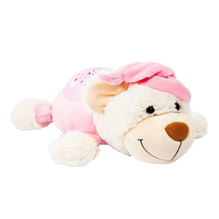 bayer Design Nocny jasny niedźwiedź różowy