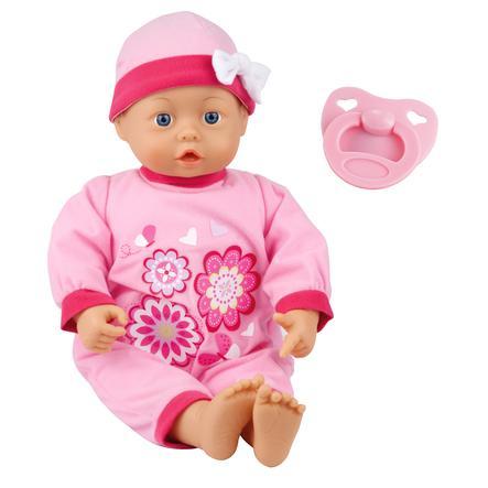 bayer Design Babypuppe First Words Baby, 38 cm, Blümchenoberteil