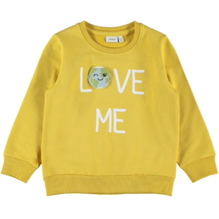 name it Girls Sweatshirt NMFLAPLANET Spicy Mustard