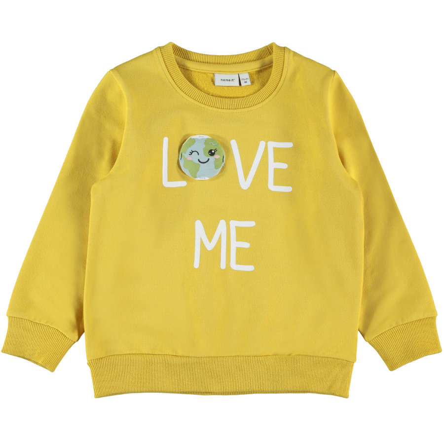 name it Girls Sweatshirt NMFLAPLANET Spicy Mustard