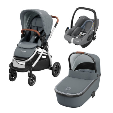 MAXI COSI Kinderwagen Adorra Trio Set Essential Grey