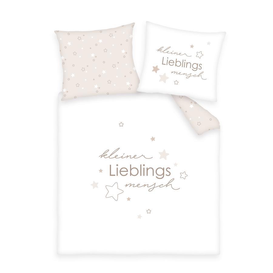 babybest® Bettwäsche Kleiner Lieblingsmensch beige 80 x 80 cm