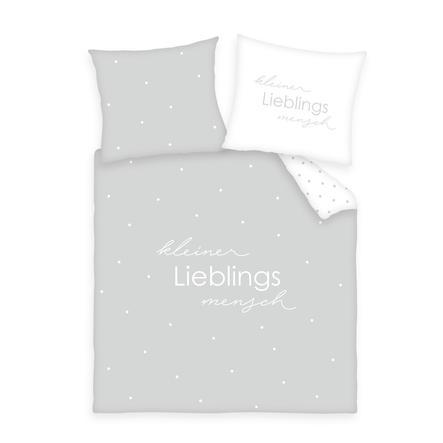 babybest® Bettwäsche Kleiner Lieblingsmensch grau 80 x 80 cm