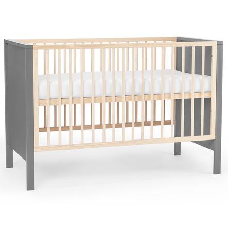 Kinderkraft Babybett Mia mit Matratze Grey
