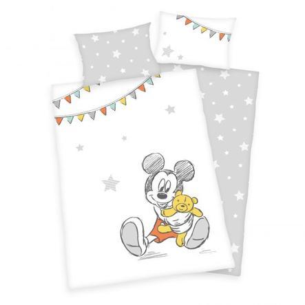 HERDING Parure de lit enfant flanelle Mickey Mouse 100x135 cm