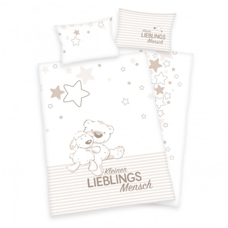 babybest® Parure de lit enfant ourson mouton flanelle 100x135 cm