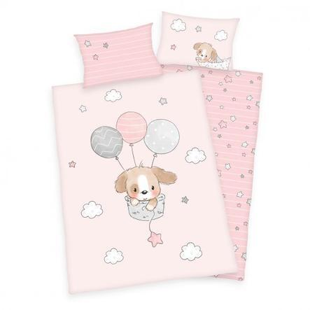 babybest® Flannel sengetøj Sweet Puppy GOTS 100 x 135 cm