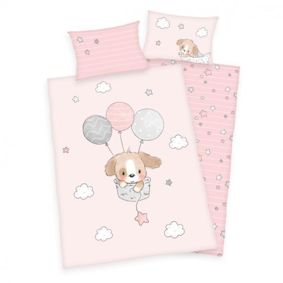 babybest flanelové povlečení Sweet Puppy GOTS 100 x 135 cm