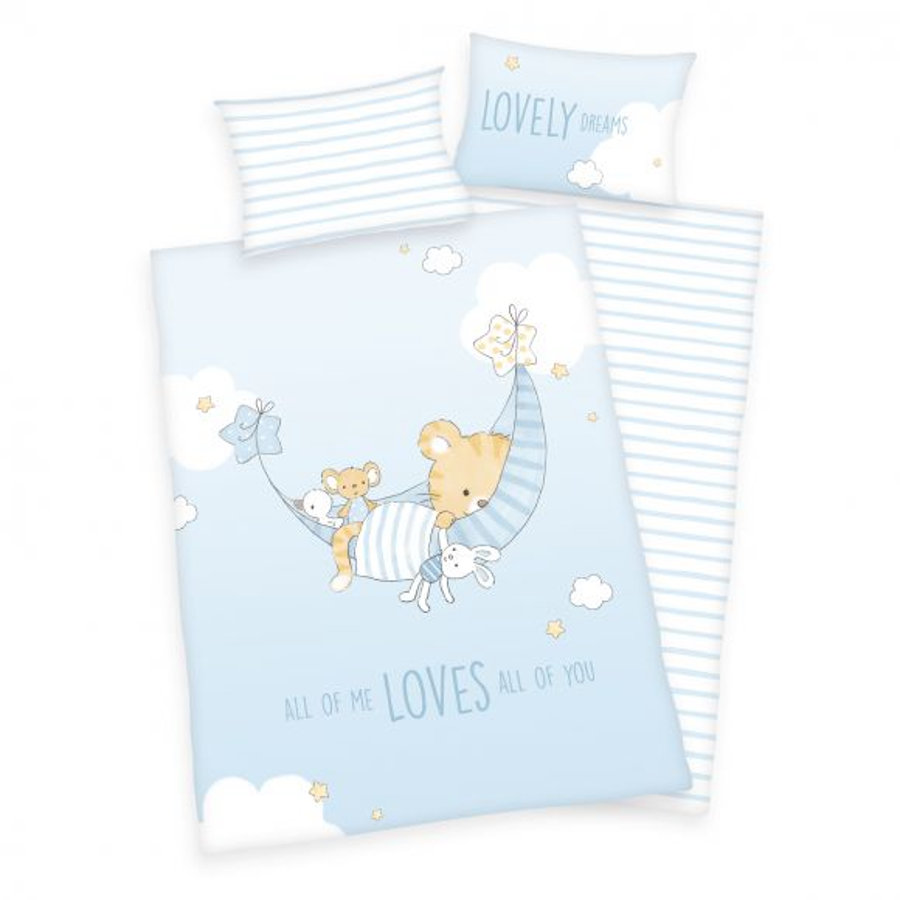 babybest® flanellen beddengoed Little Tiger GOTS 100 x 135 cm