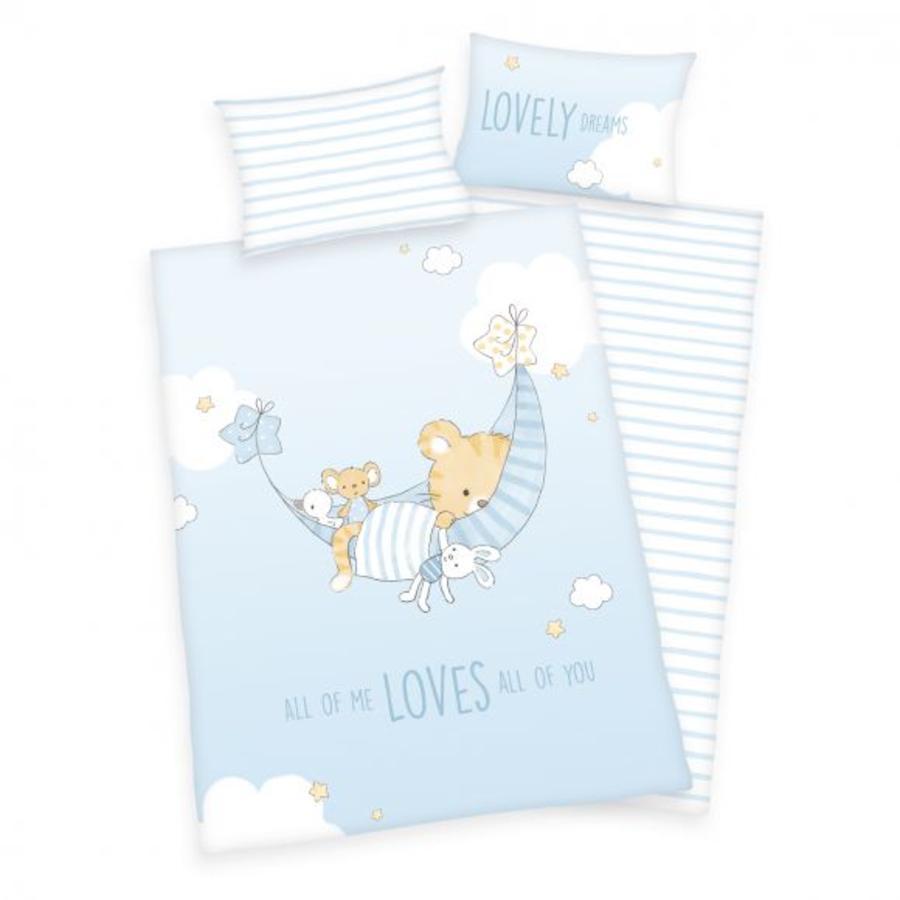 babybest® Parure de lit enfant flanelle Little Tiger GOTS 100x135 cm