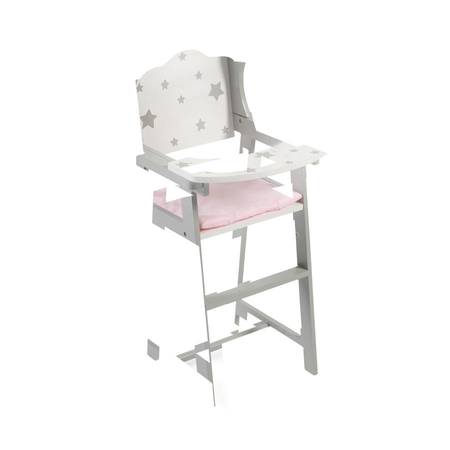 BAYER CHIC 2000 Chaise haute pour poupée Stars bois gris