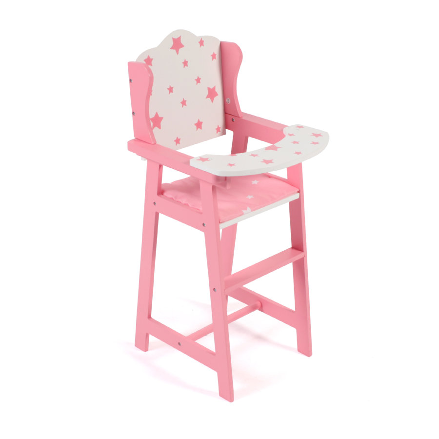 BAYER CHIC 2000 Dolls Stars høy stol rosa