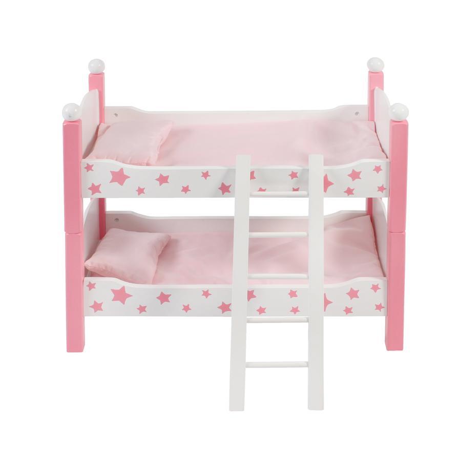 BAYER CHIC 2000 bambole Stars letto a castello rosa