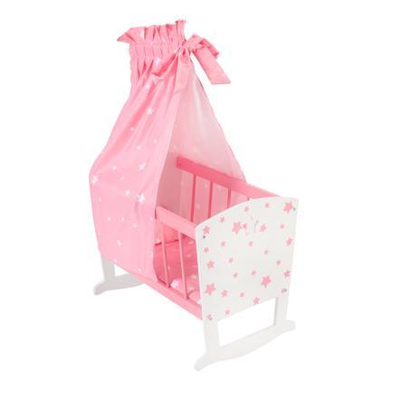 BAYER CHIC 2000 Puppenwiege Stars pink