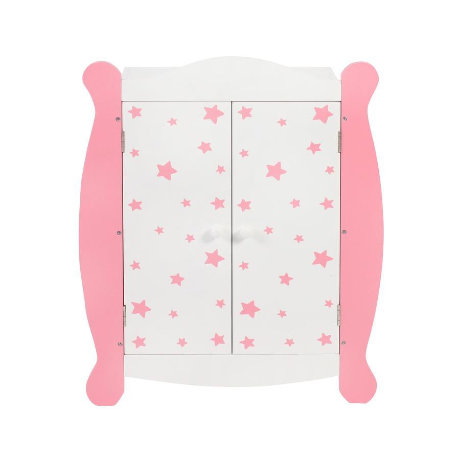 BAYER CHIC 2000 Puppen-Kleiderschrank Stars pink
