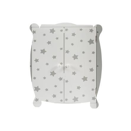 BAYER CHIC 2000 Puppen-Kleiderschrank Stars grau