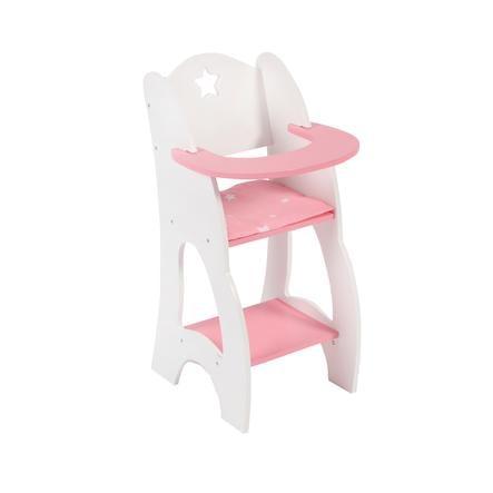 BAYER CHIC 2000 Trona de juguete Stars rosa madera