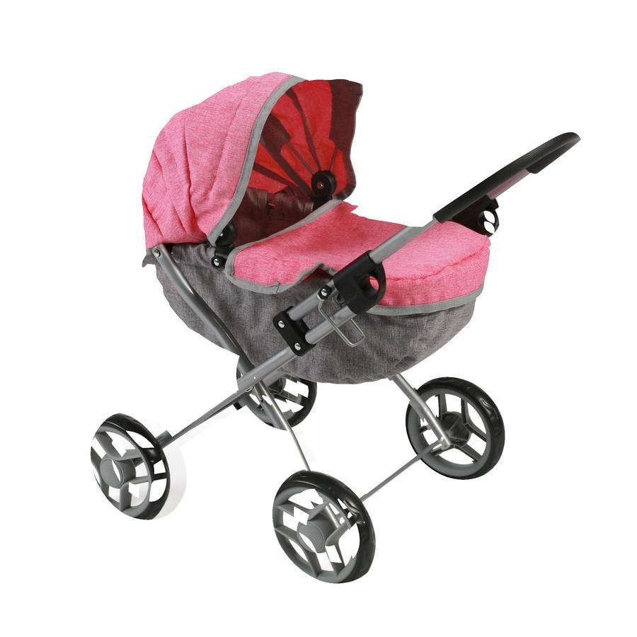 BAYER CHIC 2000 Wózek dla lalek LILLI Melange Pink