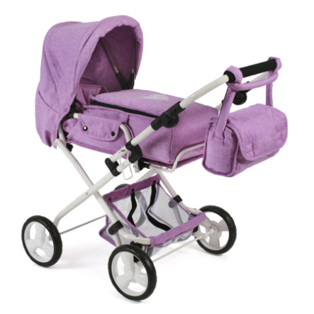 "BAYER CHIC 2000 Combi poppenwagen ""BAMBINA"" Melange Lilac"