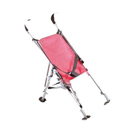 """BAYER CHIC 2000 Silla de paseo de juguete mini """"ROMA"""" Melange antracita-rosa"""