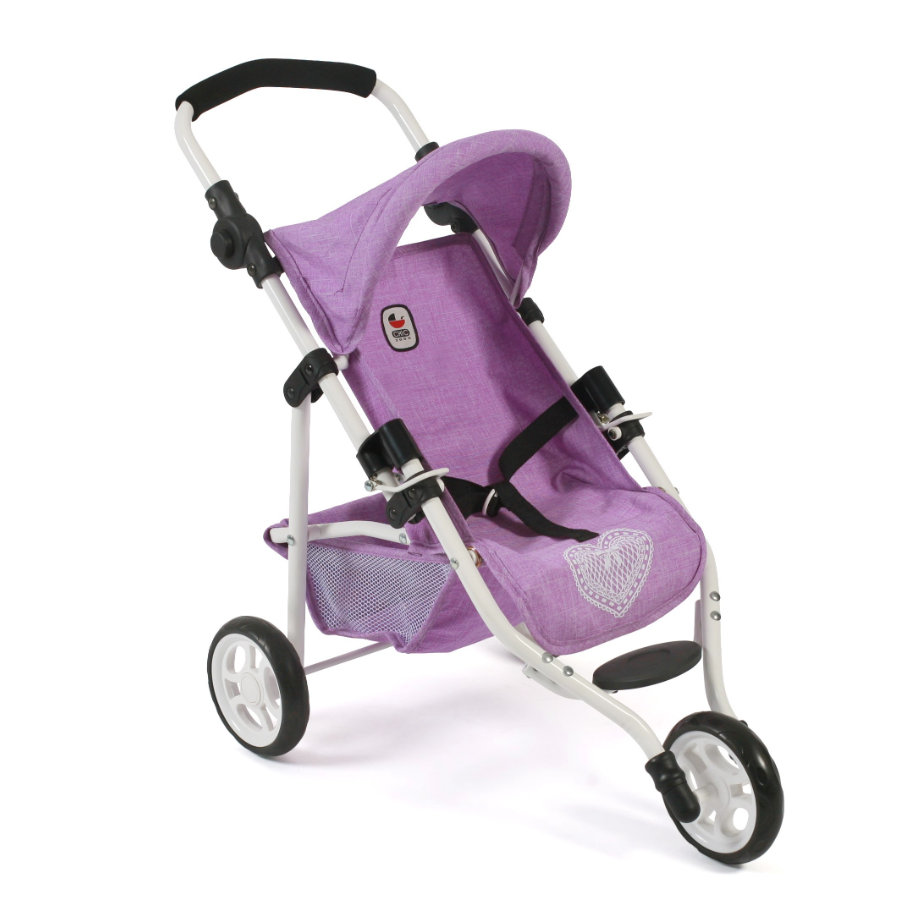 "BAYER CHIC 2000 Jogging-Buggy ""LOLA"" Melange anthrazit-pink"