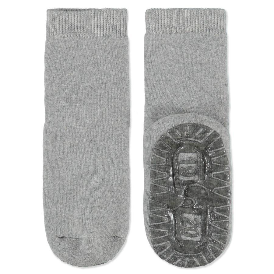 Sterntaler Anti slip Sokken Soft uni zilver-melange
