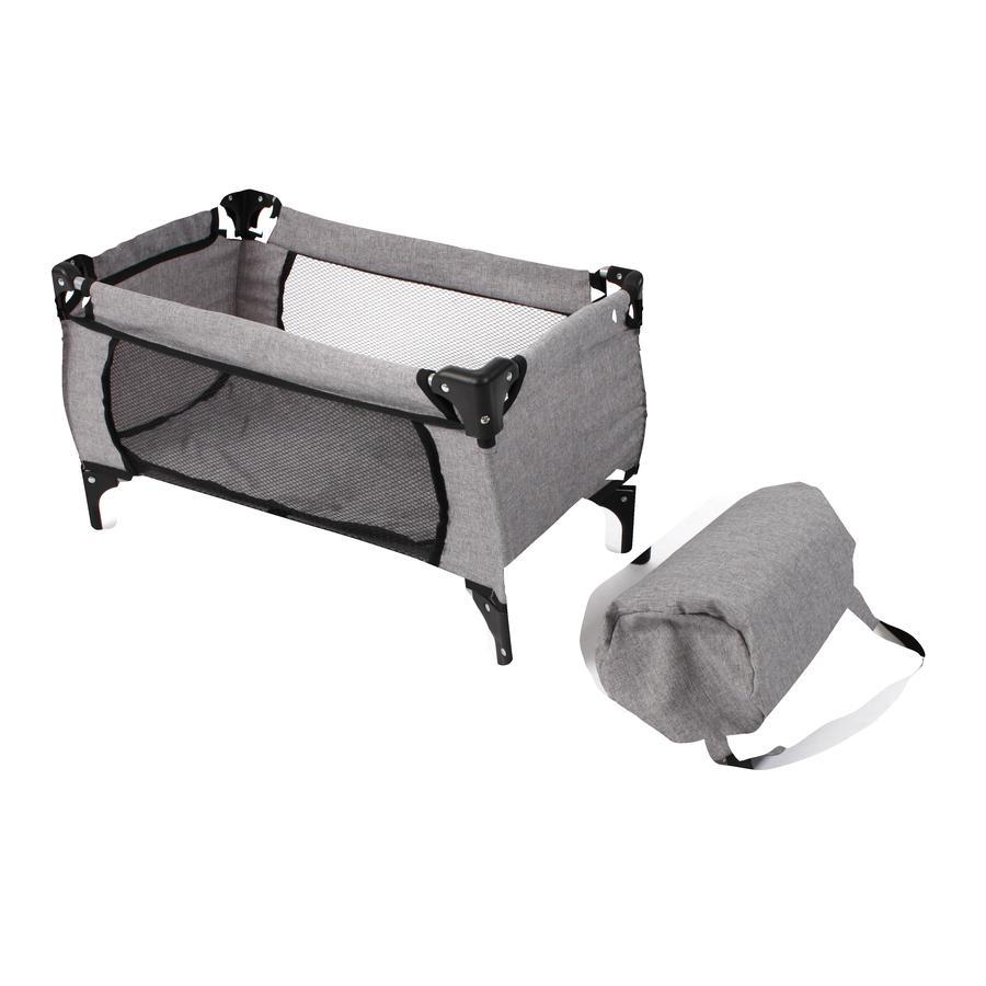 BAYER CHIC 2000 Puppen-Reisebett DELUXE Melange grau