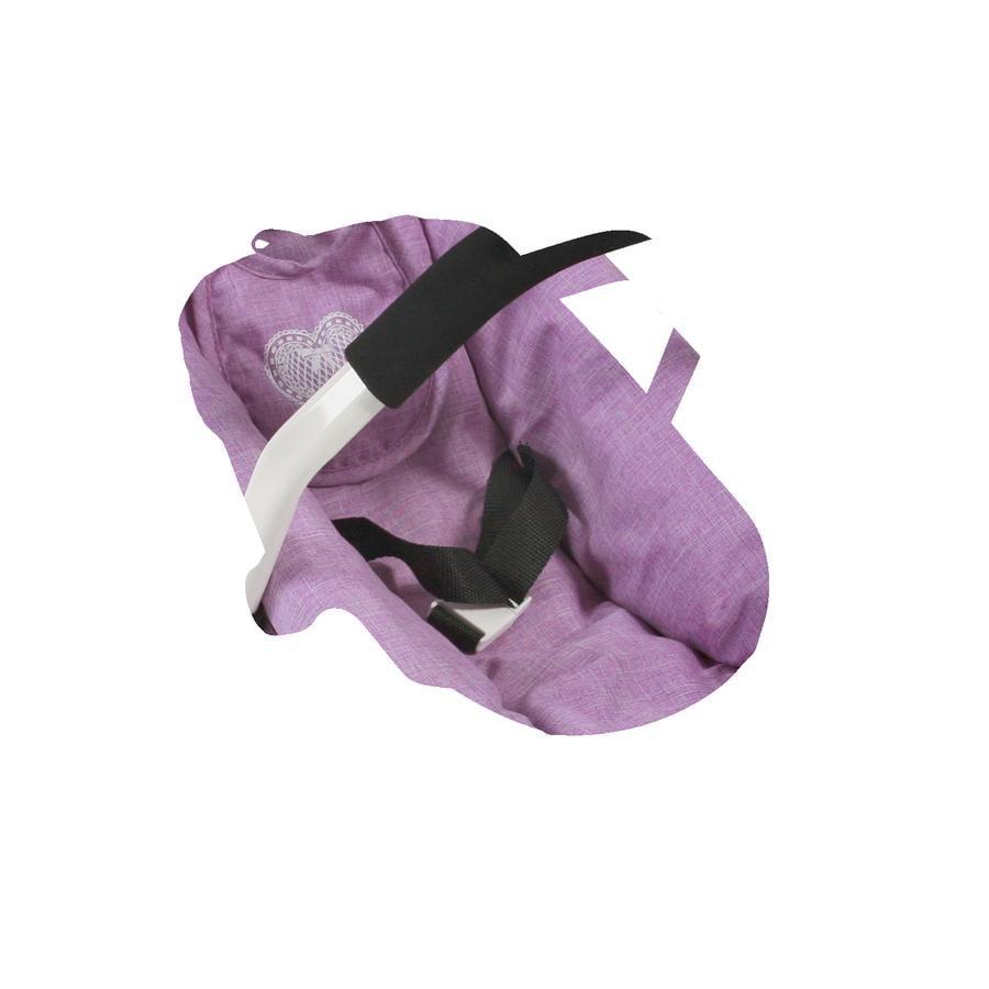 BAYER CHIC 2000 Fotelik samochodowy dla lalek Melange Lilac