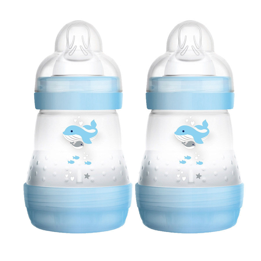2 x MAM babyfles Easy Start Anti-Colic blauw 160 ml