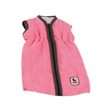 BAYER CHIC 2000 Puppen-Schlafsack Melange anthrazit-pink