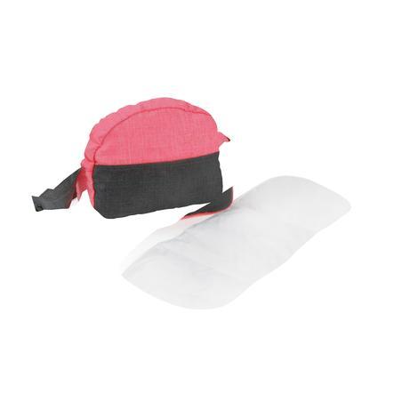 BAYER CHIC 2000 Přebalovací taška na panenky antracitově růžová