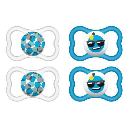 MAM Chupete Air azul / gris 16 - 36 meses Látex 4 piezas
