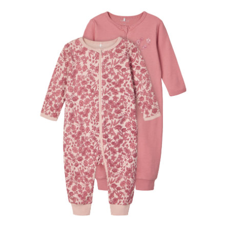 Name it Girls Sleeping overall 2-pack Dusty Rose