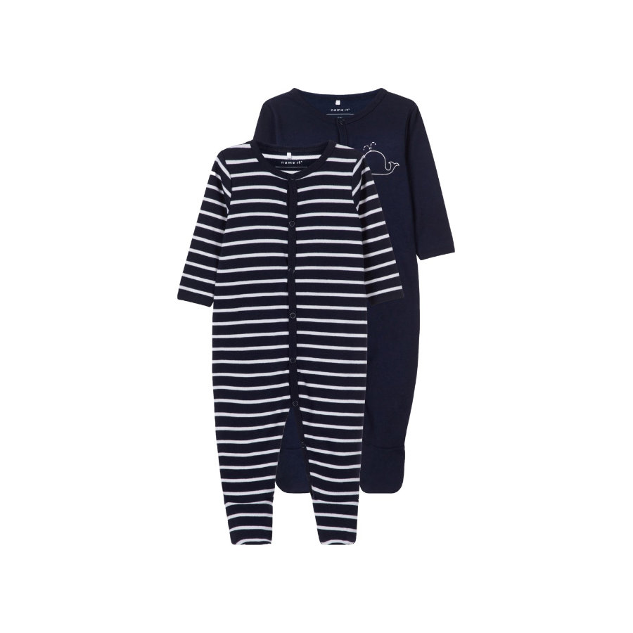 name it Combinaison pyjama bébé dark sapphire lot de 2