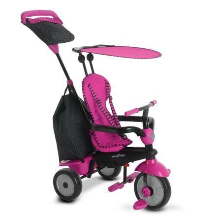 smarTrike® Spirit Touch Steering® tříkolka 4 v 1, růžová