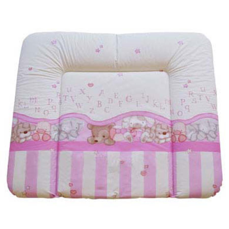 ROTHO Podložka na přebalování 72 x 85cm s potiskem medvídka/ABC baby  perlově růžová bez ftalátu*