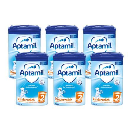 Aptamil Kindermilch 2+ 6 x 800g ab dem 2. Jahr