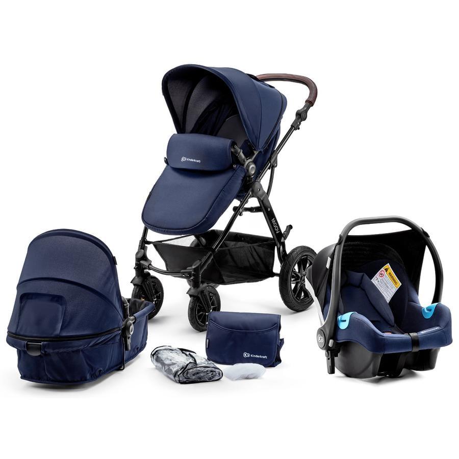 Kinderkraft Poussette Trio 3en1 Moov bleu marine