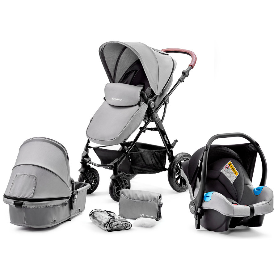 Kinderkraft Passeggino trio 3 in 1 Moov grey